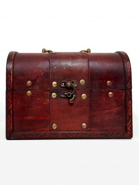 Holz-Lederbox 22x13x14cm